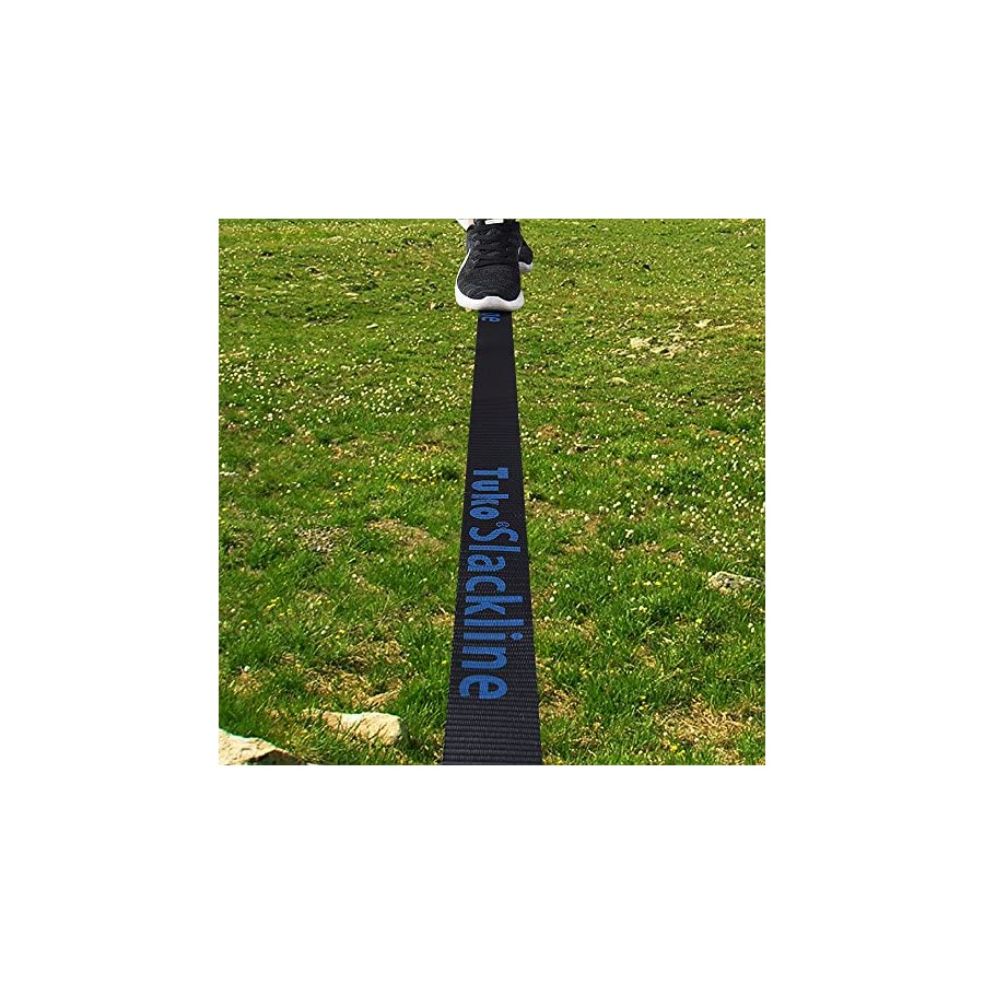 Tuko Slackline Kits with Tree Protectors for Boys/Girls/Adults