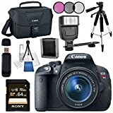 Canon EOS Rebel T5i DSLR Camera with 18-55mm Lens + Canon 100ES EOS Shoulder Bag Bundle