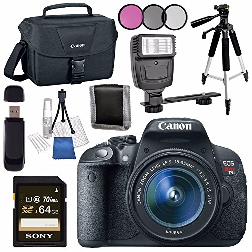 Cheap Canon EOS Rebel T5i DSLR Camera with 18-55mm Lens + Canon 100ES EOS Shoulder Bag Bundle
