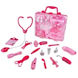Doctor Playset Pretend Play Toys Role Play Medical Kit for Kids (Pink)