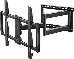 Full Motion TV Wall Mount Fit 37-75 Inch LED LCD OLED 4K Flat/Curved TV with VESA 600x400mm Articulating TV Bracket Swivel Tilt Rotate w/28 Inch Long Extension Arm Corner TV Mount Hold TV up to 110lbs