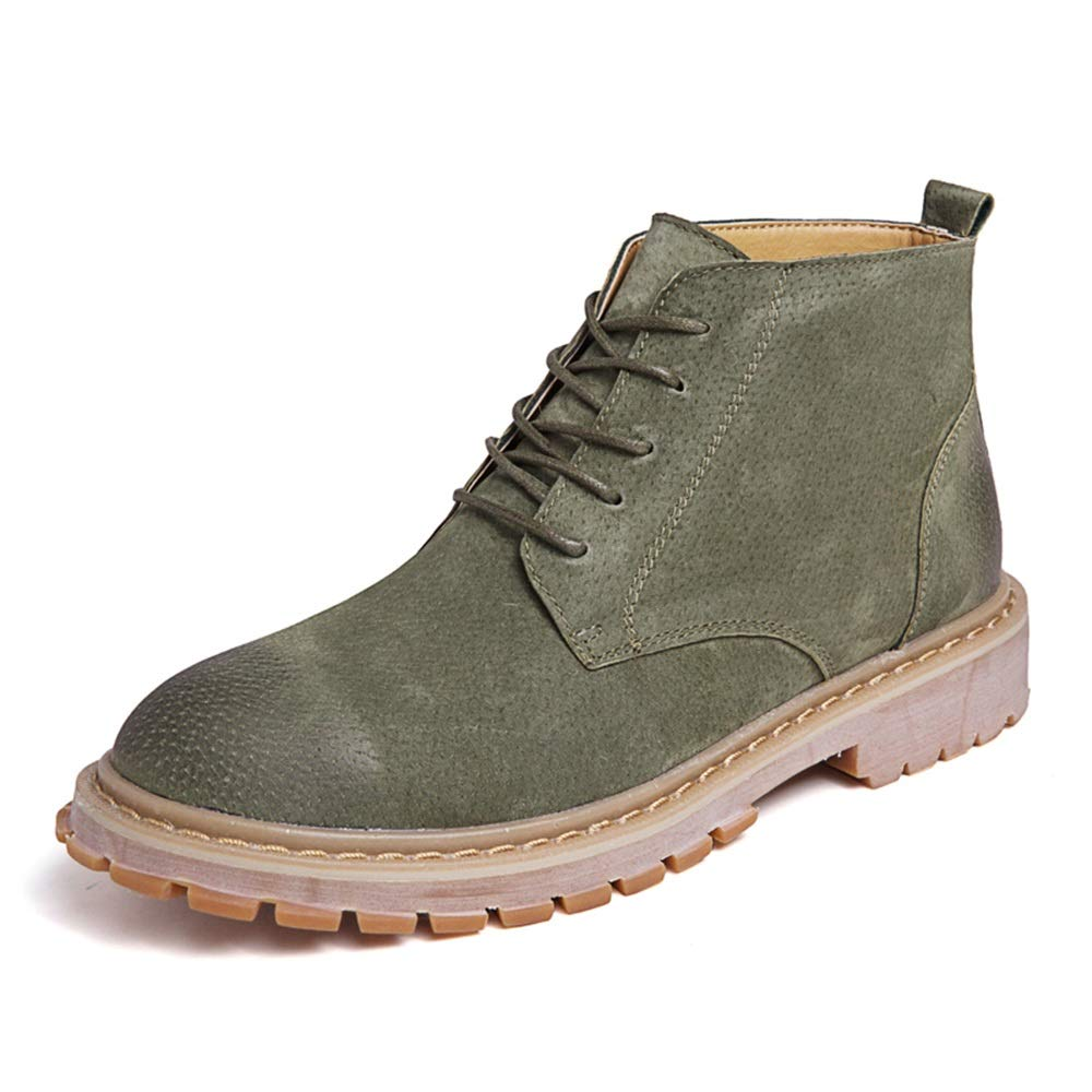 Jiuyue-scarpe, Scarpa da Lavoro alla alla alla Caviglia retrò Moda Casual da Uomo Semplice e Comoda Classica Scarpe Stivali da Uomo Stivali 2018 (Colore   verde, Dimensione   42 EU) c7785e