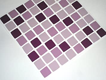 30 Stk. Flieder Lila Mosaik Fliesenaufkleber Transfers Sticker Verwandeln  Sie Ihr Bad Oder Küche,