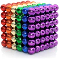 Lamdico Rainbow Fidget Cube Desk Toy with Portable Carrying Case for Stress Relief (Set of 5mm, 222 Pcs)