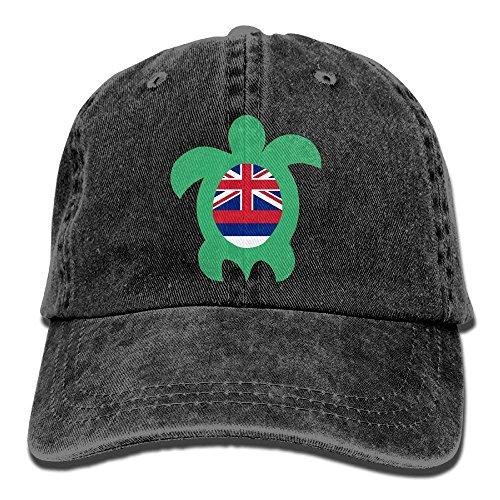 Daqinghjxg Mens/Womens Hawaiian Flag Sea Turtle Adjustable Denim Baseball - Life Quiet Hat