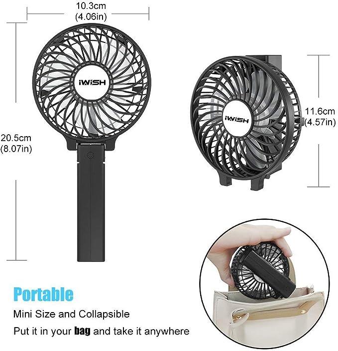 ventilador recargable 2200 mAh USB Ventilador de Mano, Mini Ventilador Mini Escritorio mini ventilador portatil ventilador bateria escritorio de pared ventilador ...