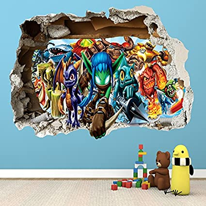 Genial SKYLANDERS SMASHED WALL STICKER   BEDROOM BOYS GIRLS VINYL WALL ART DECAL:  Amazon.co.uk: DIY U0026 Tools