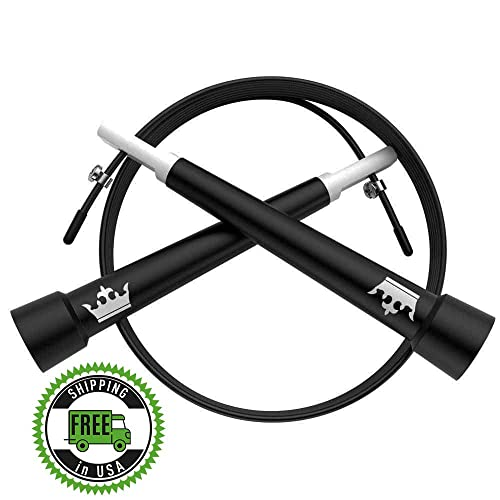 Skipping Rope :: Skip Ropes for Workout and Speed Jump Training :: Includes 2 Bonus E-Books :: Best Jumping Rope for Cardio Fitness Exercise