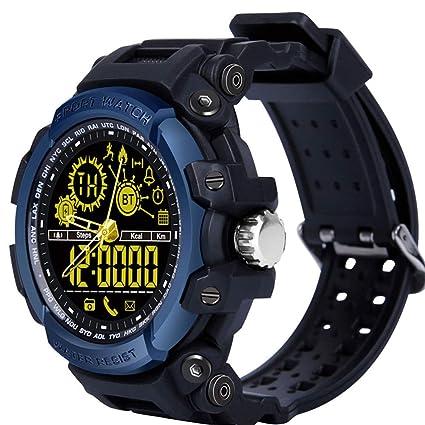 LEMFO Relojes Inteligentes, LF21 50M Cronómetro Impermeable Luz de Fondo Distancia Pista Podómetro Llamada Físico