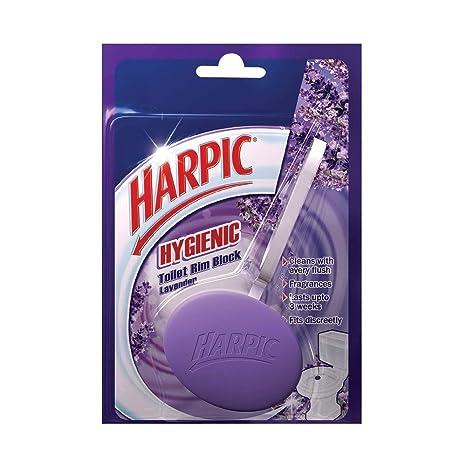 Harpic Toilet Rim Block Hygienic Lavender, 26 g
