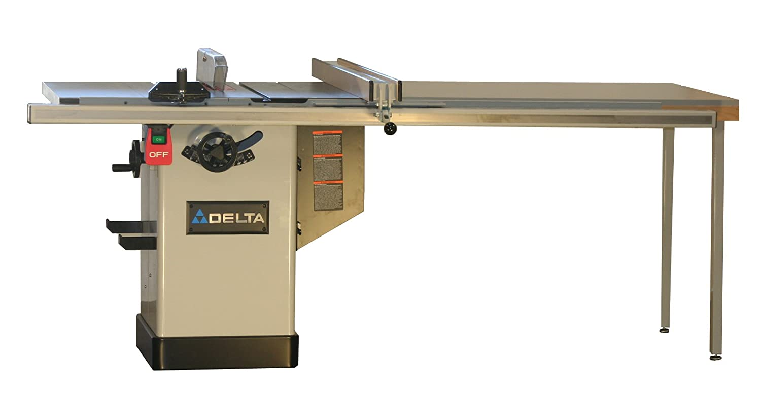 Delta  Inch Deluxe Hybrid Saw With 50 Inch Biesemeyer Commercial Fence System Rail And Table Board Power Table Saws Amazon Com