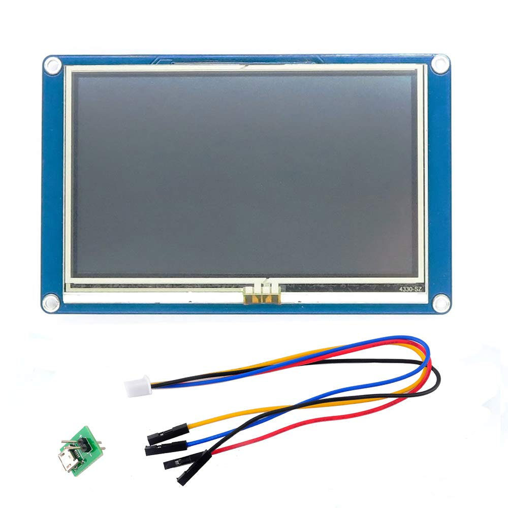 WIshioT Nextion 4.3 USART HMI TFT LCD Intelligent Touch Screen Display Module 16M NX4827T043 for Arduino Raspberry Pi IOT