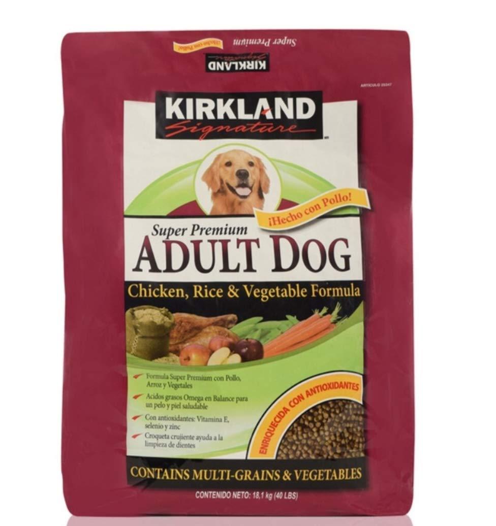 Kirkland Signature Dog Food Variety Chicken, Rice and Vegetable Dog Food 40 lb.