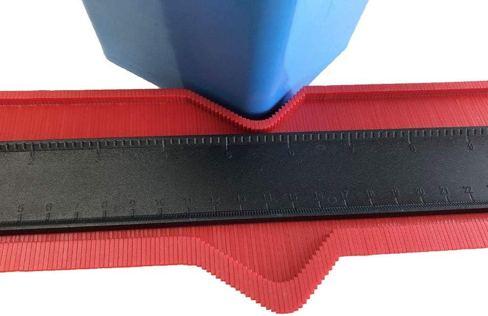 Phego Konturenlehre 10 Fliesen Laminat Duplikator Wickelrohre Holzarbeitung Markierungswerkzeug Profil Kopierer mit Skala unregelm/ä/ßiges Konturmessger/ät f/ür pr/äzise Messung