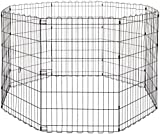 AmazonBasics Foldable Metal Pet Exercise and Playpen, 36″ For Sale