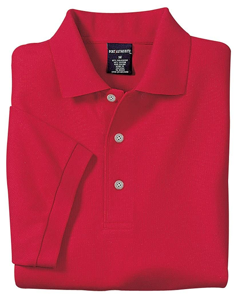 Red Port Authority Silk Touch Polo