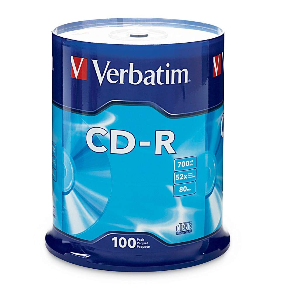 B00029U1DU Verbatim CD-R 700MB 80 Minute 52x Recordable Disc - 100 Pack Spindle - 94554 61ExDS-Yx1L