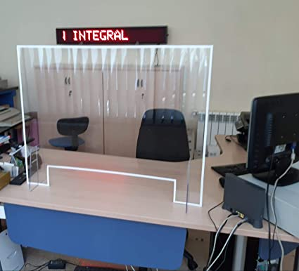 PRO - Mampara protectora de metacrilato para mostradores y despachos - ancho 100, alto 75 cm: Amazon.es: Oficina y papelería