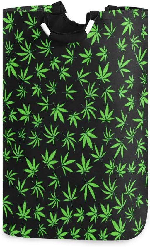 DOSHINE Cesta para la Colada, Hojas de Marihuana de Cannabis, Bolsa de la Compra Plegable, Bolsa de la Ropa Sucia, Bolsa de Almacenamiento
