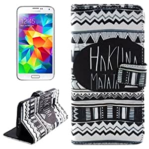 HAKUNAMATATA Pattern Cross Texture Flip Leather Case with Holder & Card Slots & Wallet for Samsung Galaxy Grand Prime / G530