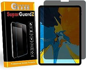 SuperGuardZ for iPad Pro 12.9 (2021/2020 / 2018) Tempered Glass Screen Protector [Privacy Anti-Spy] 9H Anti-Scratch, 2.5D Round Edge, Anti-Bubble