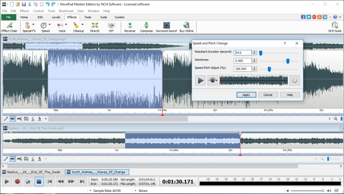 WavePad Audio Editing Software - Professional Audio and Music Editor