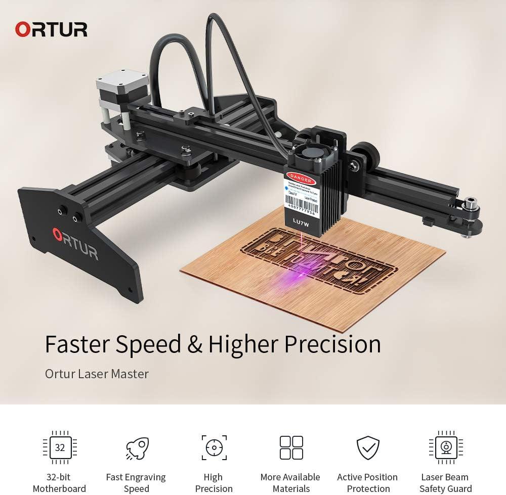 7W Ortur Laser Master Laser Engraver 7W//15W//20W Portable Laser Engraving Machine Mini Carver Desktop DIY Laser Marking for Metal Deep Wood Engraving Cutting Working Area 160x150mm