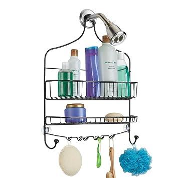 mDesign Moderna estantería de ducha para colgar – Prácticos estantes para  ducha sin taladro – Baldas 9a7eebfe7d2c
