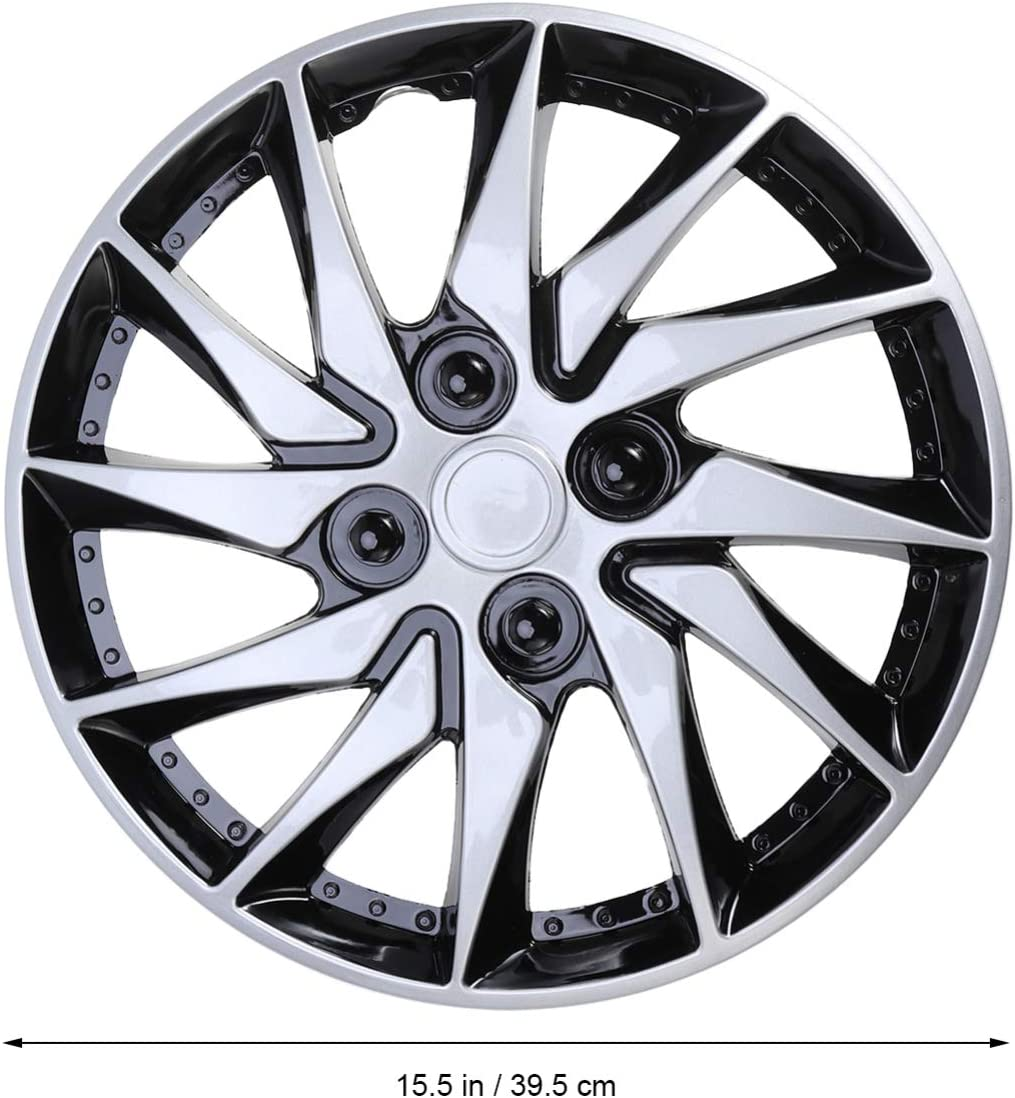 Wakauto 14 Inch Hubcap Utility Portative Premium Hub Cover Hubcap for Refitting Repairing Vehicle Wheel Car Blue Black