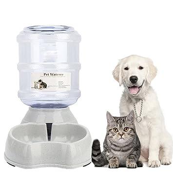 Old Tjikko Mascotas Automática dispensador de Agua, automático 901100 - Fuente, Mascotas Botella Animales Accesorios para Perros Gatos, 3.8 litros, ...