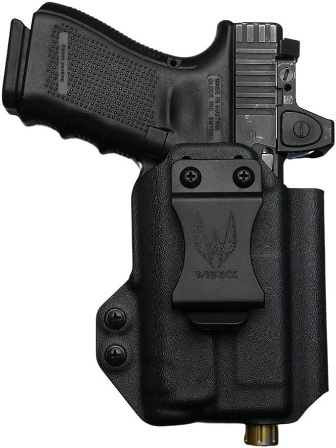 Black Kydex Light Holster for Glock 17 GEN5 Inforce APL w//Mag Carrier