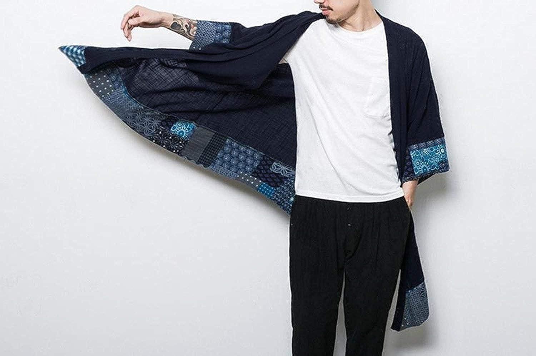 Burlady Herren Japan Happi Kimono Haori Jacke /Übergangsjacke M/äntel
