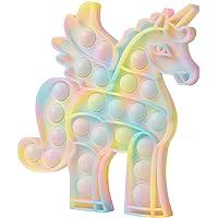 Glow in The Dark POP Unicorn Fidget Toy,Fluorescent Silicone Sensory Anxiety Toy for Adults Girls Boys…