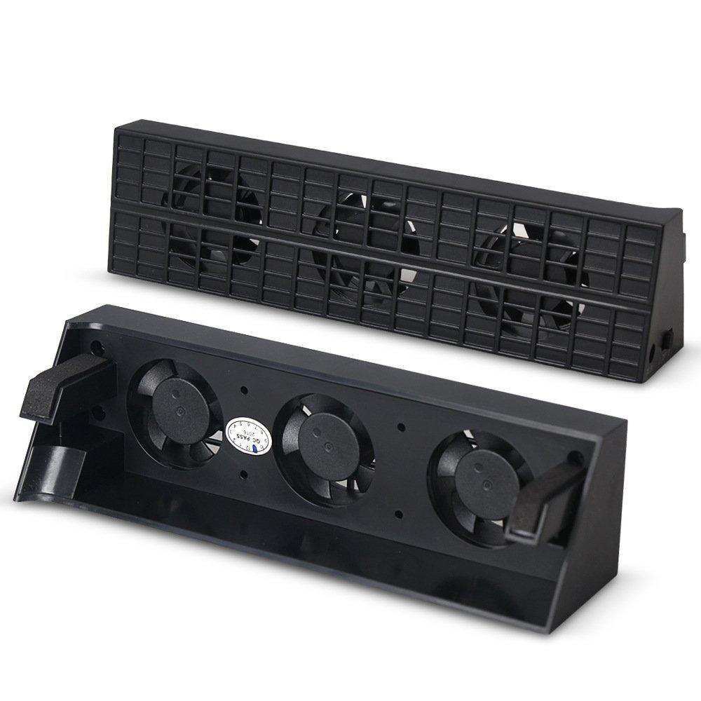 QUMOX PS4 ventilatore sottile eccellente esterno di raffreddamento turbo cooler nero per Playstation 4