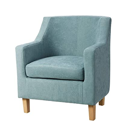 Sillón tapizado de Tela Azul Moderno para salón Iris - LOLAhome