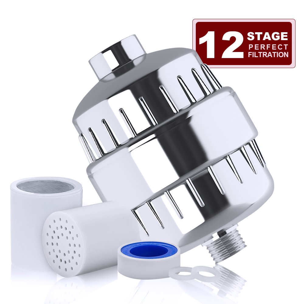 12stage shower water filter with 2 cartridges totobay shower filter for any shower head