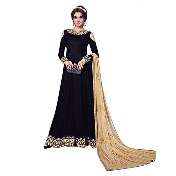 Amazon Com Black Bollywood Designer Wedding Party Wear Salwar