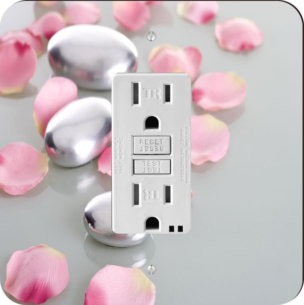 Rikki Knight 2045 spa stones with rose petals Design Light Switch Plate
