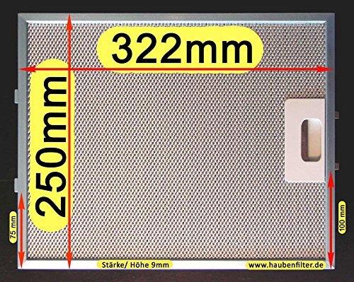 Premium metal de filtro de grasa 320 (No 310.) X 250 para campana ...