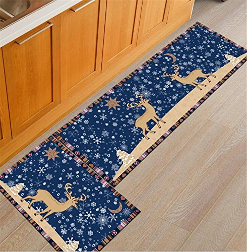 Rubber Back Home And Kitchen Rugs Non-Skid/Slip Decorative Runner Door Mats Low Profile Modern Thin Indoor Floor Area Rugs for Kitchen by Urban Virgin