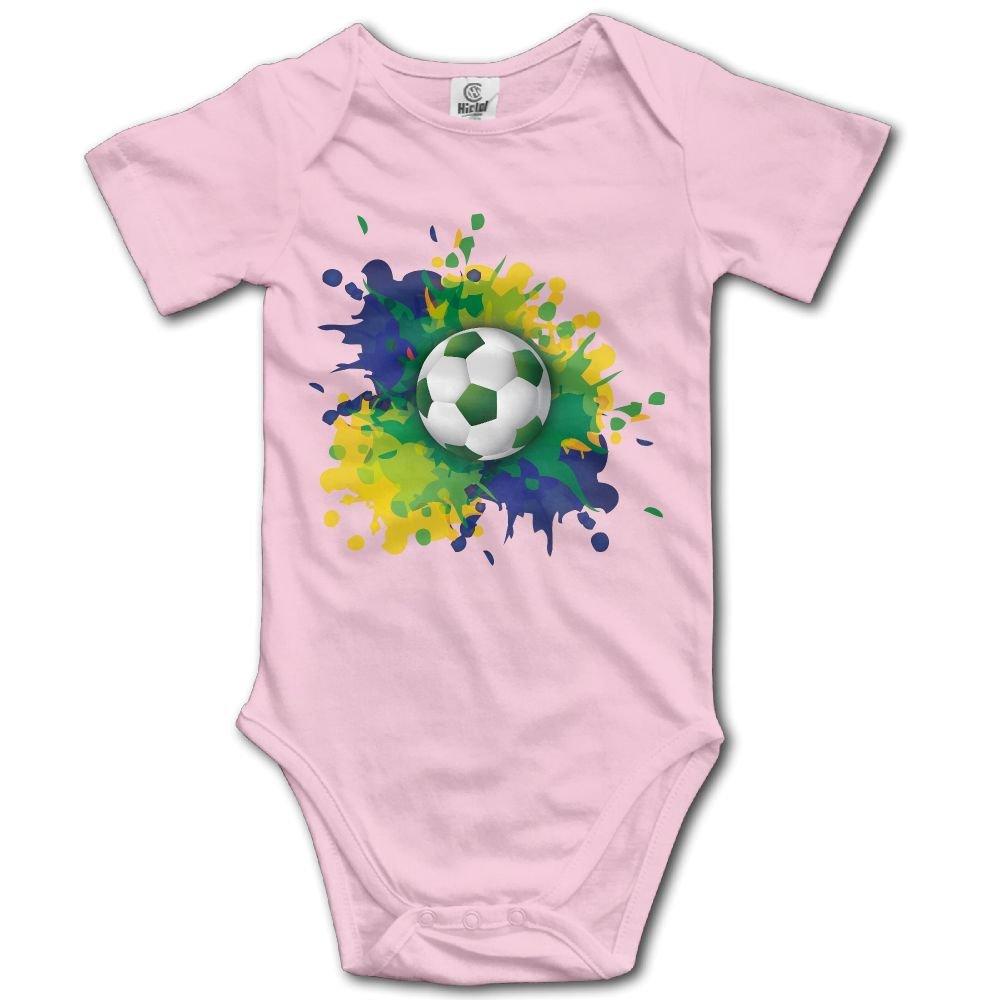 Jaylon Baby Climbing Clothes Romper Brazil Football Style Infant Playsuit Bodysuit Creeper Onesies Pink