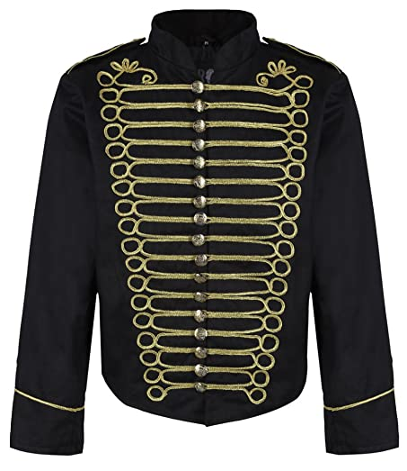 Men's Clothing Beautiful 100% Cotton Steampunk Silver Military Jacket Drummer Hussar Band Parade Emo Punk