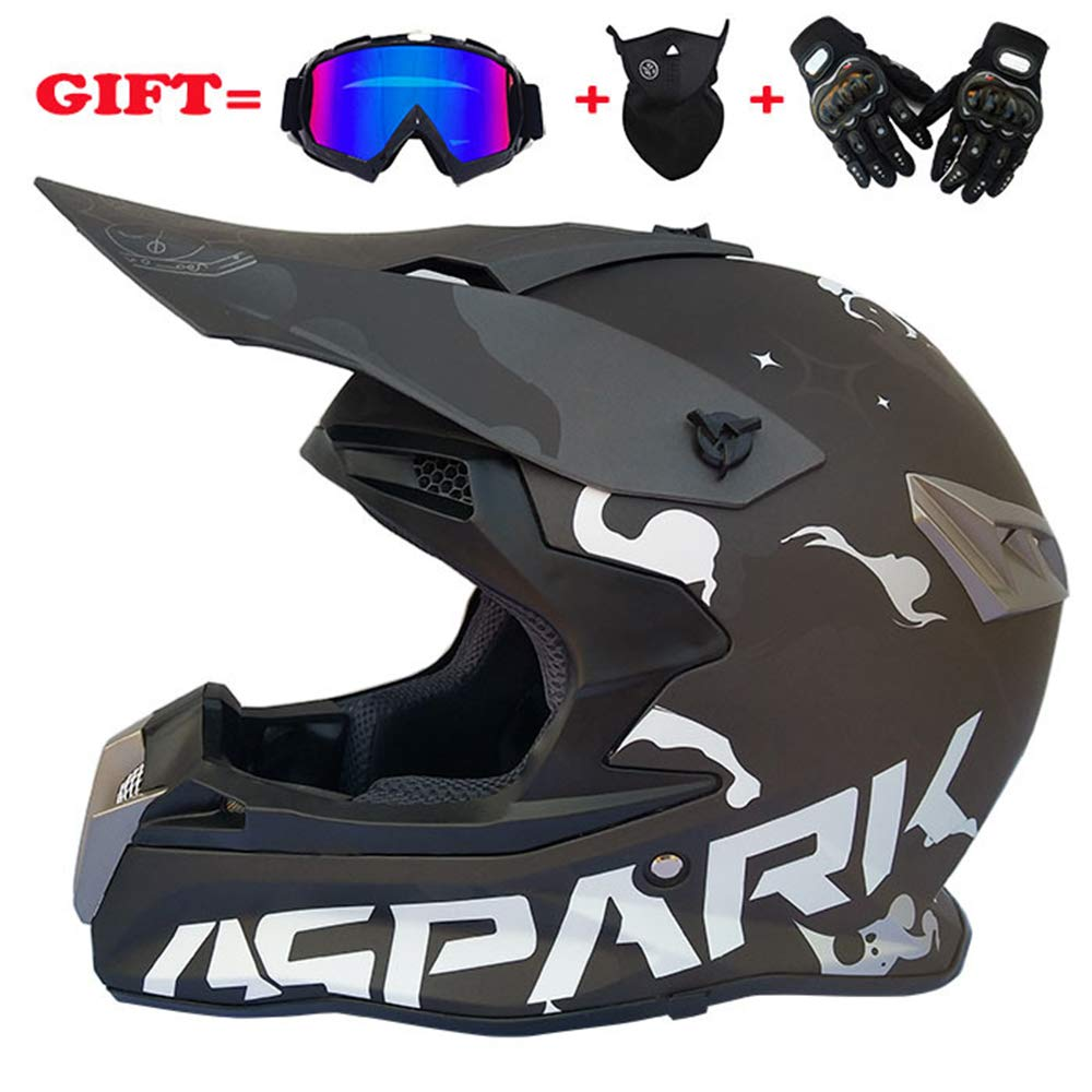 HELMET Off-road downhill locomotive four seasons motorcycle set, including: goggles + mask + gloves XXRH