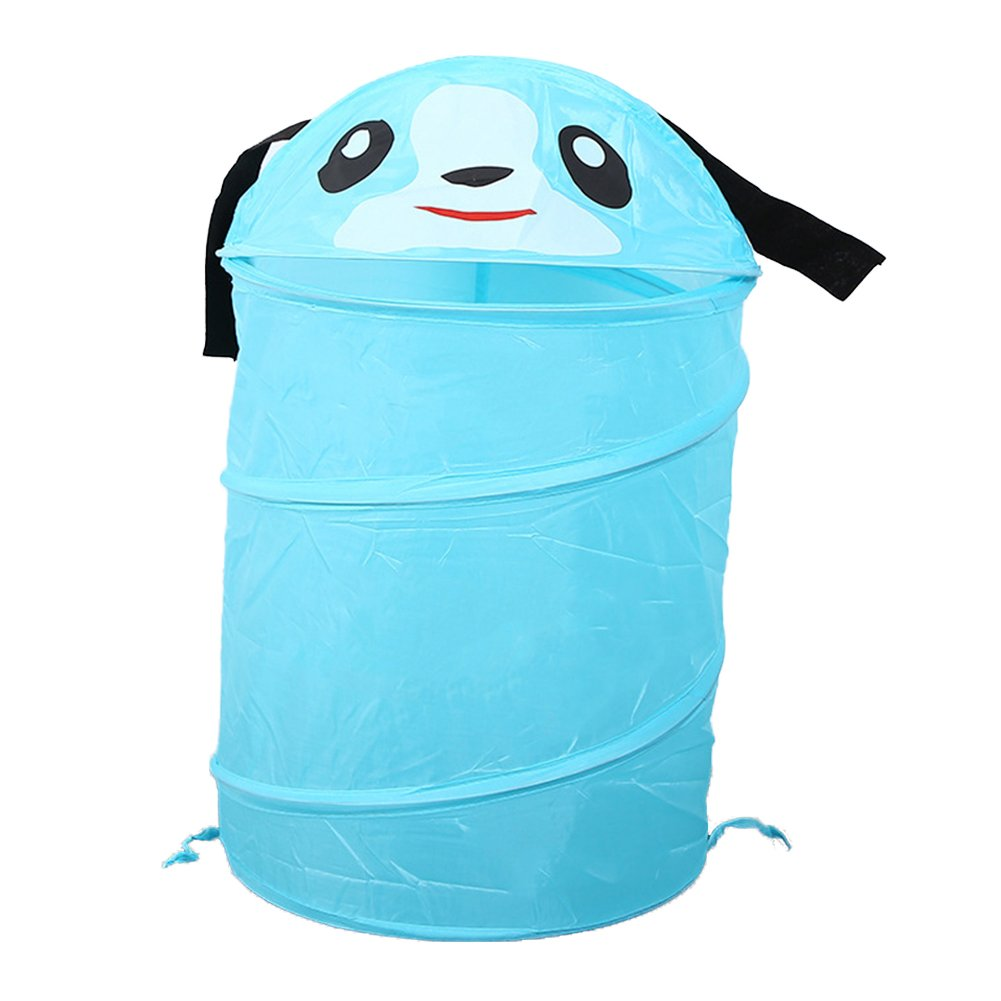 RMay Store HOTUMN Kid Pop-Up Laundry Hamper Cartoon Design Collapsible Clothes Basket Dirty Clothes Storage For Kids Children Cloth (Blue)