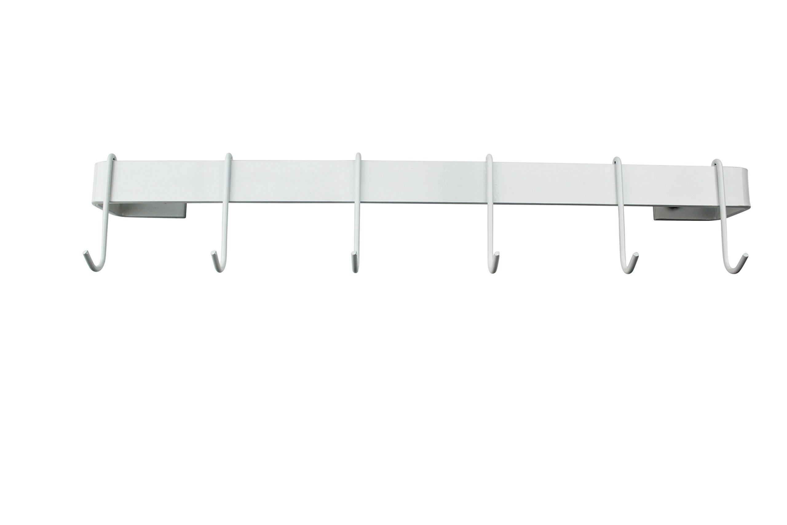 Enclume Premier 36'' Utensil Bar Wall Pot Rack, One Size, White