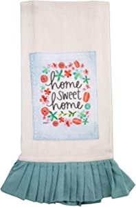 Brownlow Gifts 100% Cotton Vintage Style Tea Towel, 18 x 28-Inches, Home Sweet Home