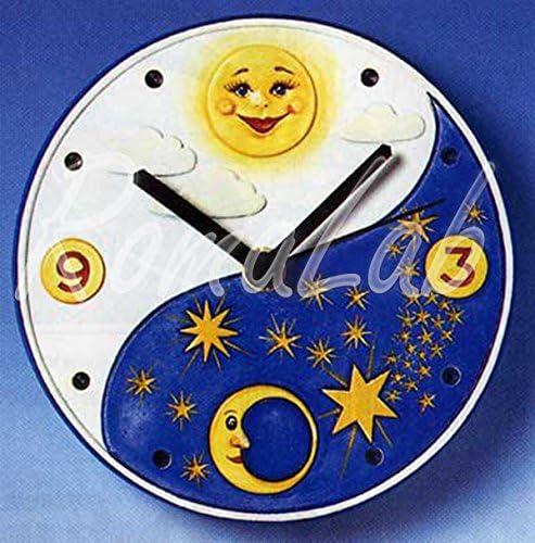 STAMPO con 1 orologio forma circolare decorata bomboniere MOLDS STAMPI x GESSO