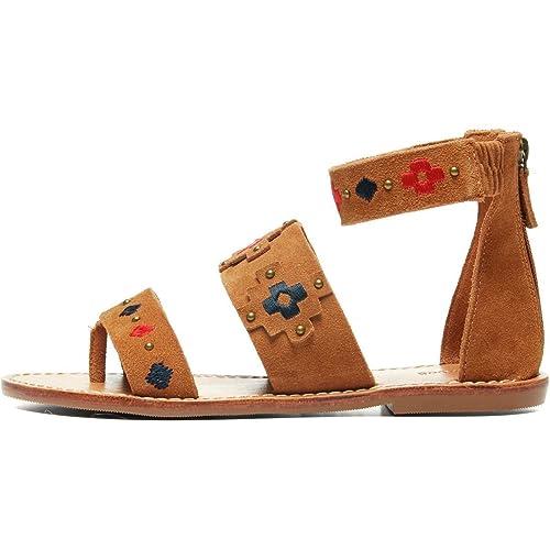 25835c6d37d Soludos Women s Embroidered Three Banded Platform Flat Sandal ...