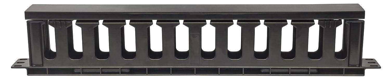 Accesorio de Rack Panel de gesti/ón de Cables, Negro, De pl/ástico, 1U, 19, 485 mm Intellinet 714679 Accesorio de Bastidor Panel de gesti/ón de Cables