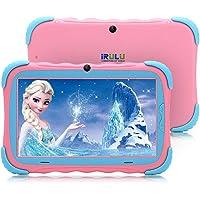 iRULU Kids Tablet PC 7 Pulgadas Pantalla IPS Android 7.1 1GB / 16GB Babypad WiFi Cámara Google Play Store Bluetooth Compatible con GMS Certificado con Estuche a Prueba de Niños(Rosa)